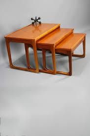 mid century nest of coffee tables gerald easden module sleigh legs