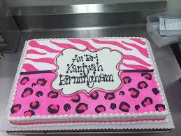 shower cakes for girls cheetah print zebra u pink image