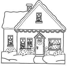 gingerbread house coloring pages getcoloringpages