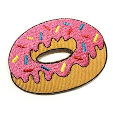 pink donut patch