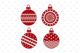 christmas svg ornaments by svg cut studio thehungryjpeg com