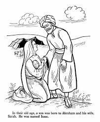 coloring page abraham and sarah patience isaac is born to abraham and sarah when they are old bible
