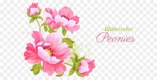 pink flowers wedding invitation watercolor painting pink flowers