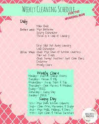 House Cleaning List Template Working Moms Can Keep A House Clean Too Cleaning Schedules And Ships