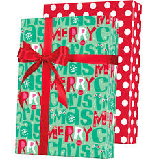 reversible christmas wrapping paper merry christmas reversible gift wrap christmas wrapping paper