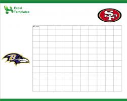 Football Squares Template Excel Football Squares Printable Football Squares