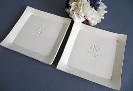 personalized platter susabella set of personalized platters parent wedding gifts