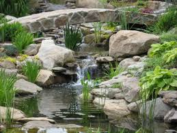 Backyard Waterfall Backyard Waterfall Designs Minimalist Design With Water Garden