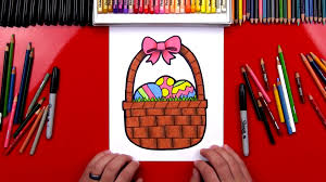 how to draw an easter basket art for kids hub