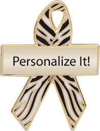 custom awareness ribbons zebra custom awareness ribbons lapel pins