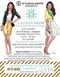 ulta studio gear cosmetics lauren snow makeup cles inslee by design