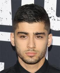 black people short hair cut with part down the middle zayn malik short straight casual hairstyle black