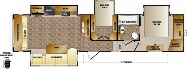 Crossroads Travel Trailer Floor Plans Imposing Exquisite Two Bedroom Fifth Wheel 5th Wheel Rv 2