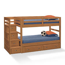 Pull Out Bunk Bed by Bedroom White Polished Solid Wood Bunk Bed With Storage And Desk