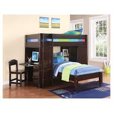 Kids Twin Bed Lars Kids Loft Bed With Twin Bed Wenge Twin Twin Acme Target