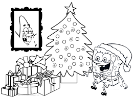 spongebob squarepants christmas coloring pages coloringstar