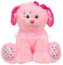 build a unstuffed build a precious pink patchwork hearts puppy dog fluffy soft