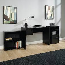 wood lshape corner computer desk pc laptop table workstation home