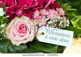 congratulations marriage card wedding card pink flowerscongratulations on stock photo