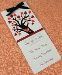 fall wedding programs harvest scroll accordion fold wedding program print