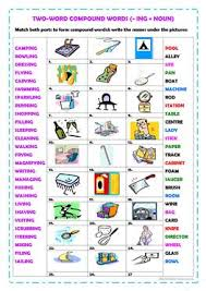 20 free esl compound nouns worksheets