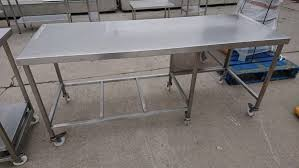 used stainless steel tables for sale secondhand catering equipment stainless steel tables 2 01m and over