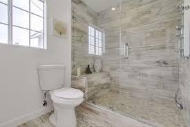 Shower Head In Ceiling by Contemporary 3 4 Bathroom With Hardwood Floors U0026 Handheld Shower