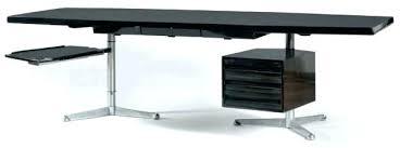 bureau angle noir bureau d angle noir laquac grand bureau grand bureau plat en