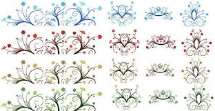 free vector curly leaf ornaments 123freevectors