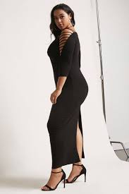 plus size open shoulder maxi dress forever21