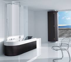 modern luxury bathroom decorating ideas with shining white floor