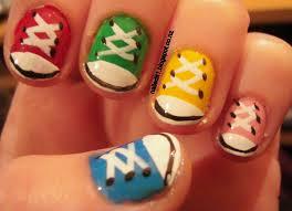 nail art for short nails 9 chuck taylors shoe nails