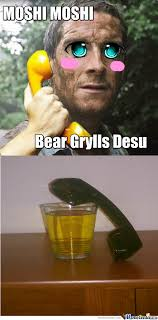 Meme Bear Grylls - bear grylls calls his loved ones by justpassingthrough meme center