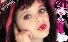 Girls Halloween Makeup Draculaura Monster High Doll Costume Makeup Tutorial For Halloween
