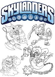 Print Free Colouring Sheets With Skylanders Browse All The Skylander Coloring Pages Printable