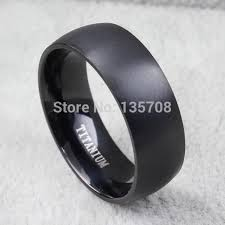mens black titanium wedding rings modyle new fashion men titanium ring high quality black titanium