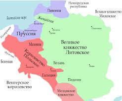 Map Of Lithuania File Map Of Lithuania And Poland C 1400 Ru Svg Wikimedia Commons