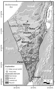 negev desert map map of the negev desert in southern showing location of