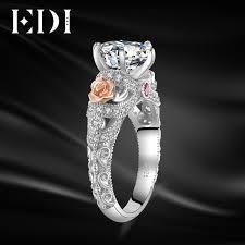 luxury engagement rings images Edi luxury moissanites diamond 14k 585 white gold engagement ring jpg