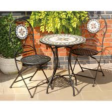 Bistro Table Set Kitchen by Mosaic Bistro Table Sets Piece Tuscany Stone And Metal Bistro