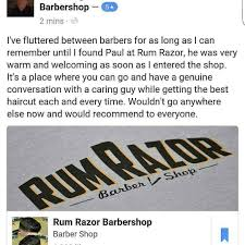 rum razor barbershop have you read our reviews word of mouth is