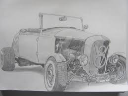 vintage cars drawings 1932 ford roadster rod pencil drawing by gonzo88 on deviantart