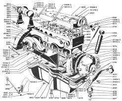 4 cylinder engine 1932 1933 1934 four cylinder engine part illustration identification