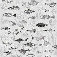grey wrapping paper fish gift wrap lush designs