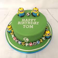 football cakes minions football theme cake