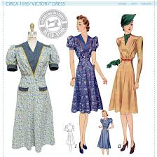 historical pattern review circa 1939 victory dress pattern wearing history