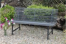 garden u0026 outdoor garden furniture 3 seater slatted steel