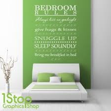 bedroom wall stickers bedroom wall sticker quote bedroom rules wall art love decal x345