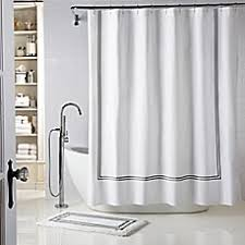 Bed Bath And Beyond Shower Curtain Liners Wamsutta Baratta Stitch Shower Curtain Bed Bath U0026 Beyond