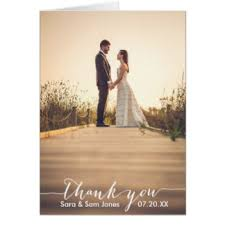 wedding thank you cards zazzle